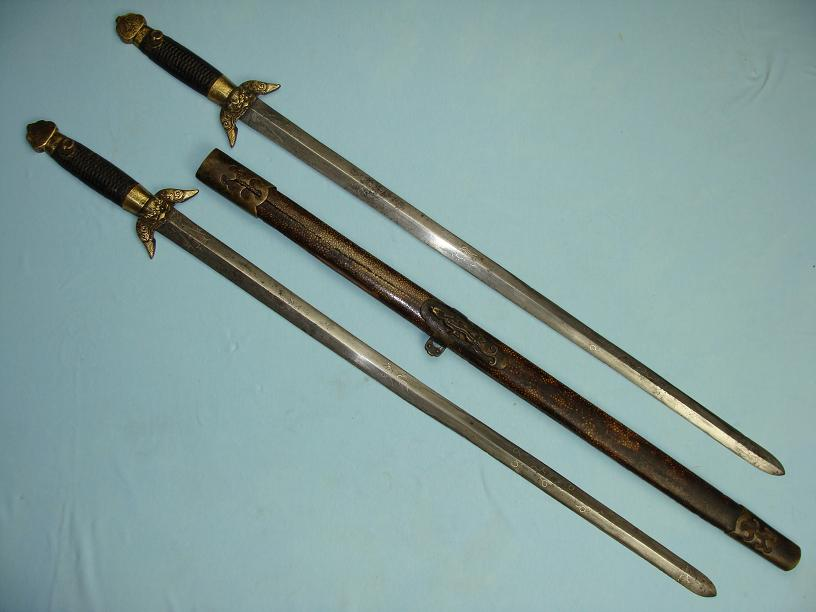 Chinese Jian early QianLong era Shuang Jian very rare www.swordsantiqueweapons.com