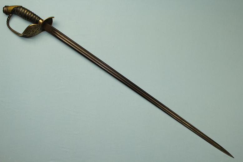 A rare Chinese sword Officers sword in Prussian style M1889 with Dragon guard www.swordsantiqueweapons.com