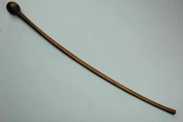 African club Unusual Knobkerrie Long curved type Zulu Shona www.swordsantiqueweapons.com