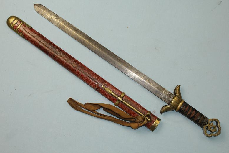 Korean War Swords a Very Rare Jian Korean Sword