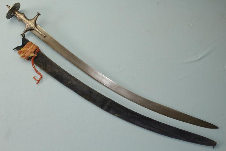 A very fine Tulwar Talwar sabre Shamshir Named and dated Indian sword Wootz blade www.swordsantiqueweapons.com