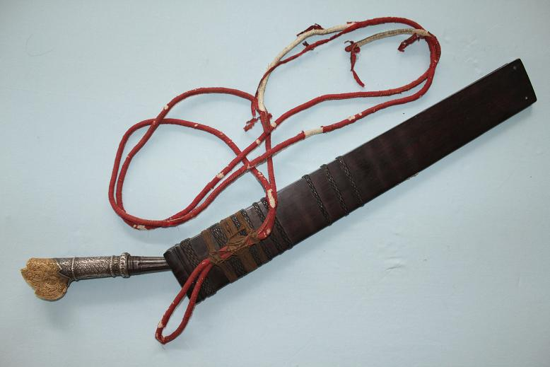 Borneo Melanau Sadap A extremelly rare weapon Complete with scabbard www.swordsantiqueweapons.com