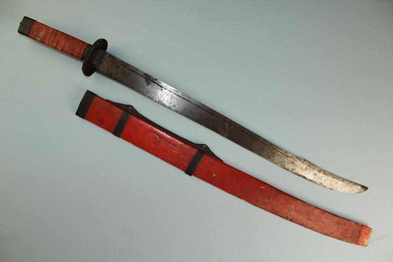 Antique Chinese sabre dao Rare old form Provenance First Opium war www.swordsantiqueweapons.com