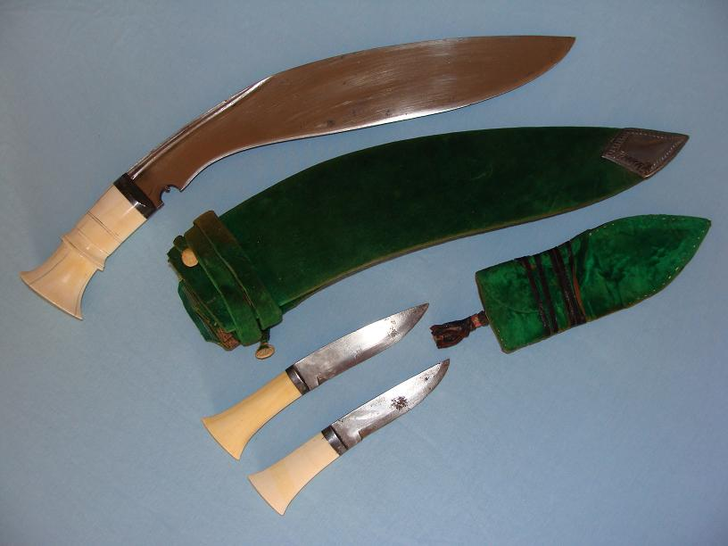 Superb Ivory hilted Kukri, fully complete and original, Very Rare www.swordsantiqueweapons.com