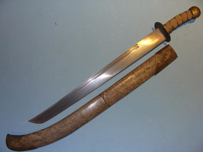 Chinese short Dao, 19th century www.swordsantiqueweapons.com