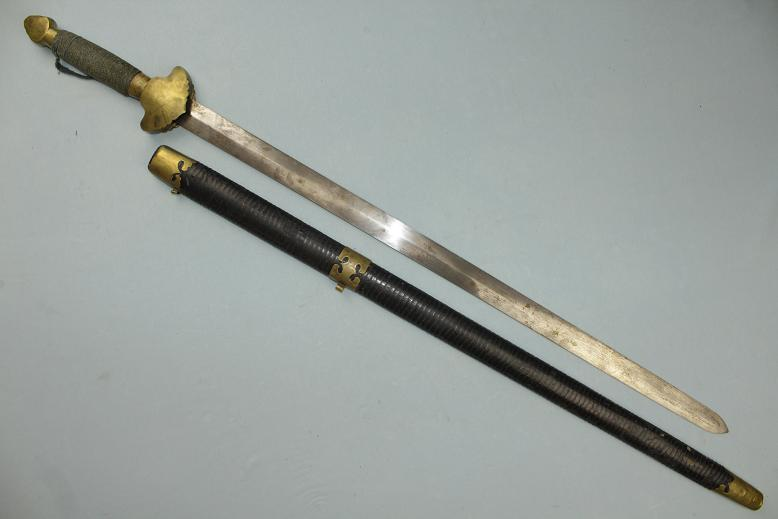 Chinese sword Jian Complete 19th century example www.swordsantiqueweapons.com