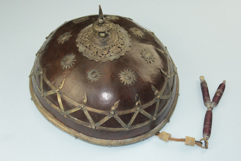 Salakot 19th century district chief's helm Luzon Philippines hat rattan helmet www.swordsantiqueweapons.com