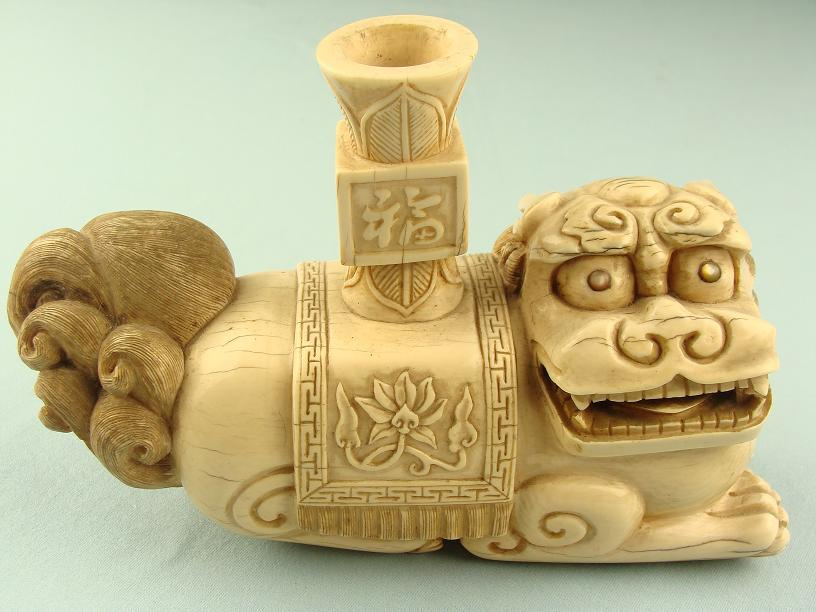 Chinese censor Ivory Guardian Lion Dated; Qianlong Reign circa: 1735-1795 www.swordsantiqueweapons.com