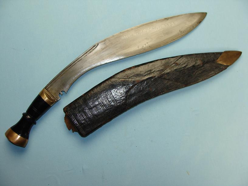Kukri 3/8th Gurkha rifles attributed documented paymaster worthy of further research rare private or presented Gurkha Rifles Kukri www.swordsantiqueweapons.com
