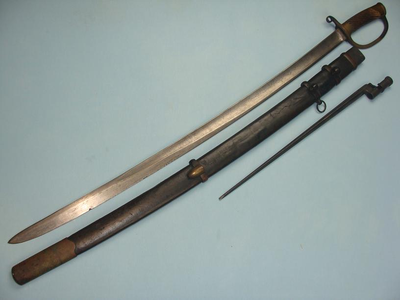 Soviet Russian Cossack Shashka and scabbard with Mosin-Nagant Bayonet fine condition dated 1910 www.swordsantiqueweapons.com